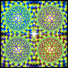 Moving colors illusion